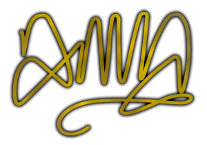 Anna signature in gold and old and black